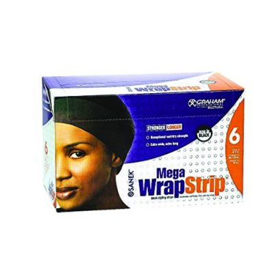 Graham Mega Wrapstrip-Blk 6Pk/Cs