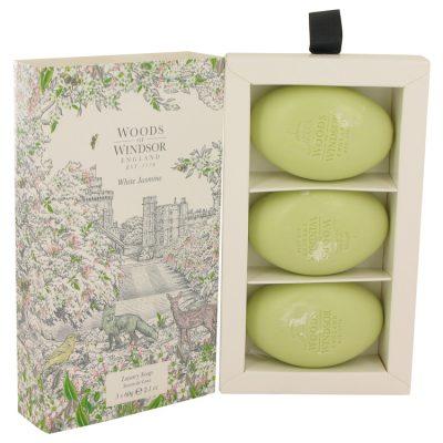White Jasmine Perfume By Woods Of Windsor Three 2.1 oz Luxury Soaps